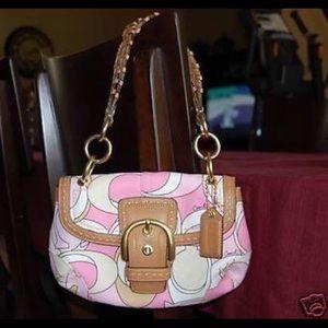 COACH NWOT Signature Pastel Soho Flap Bag